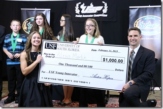 Alexis Martin wins 2015 USF Young Innovator Competition